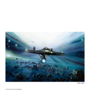 Star Trek Enterprise Fine Art Print with Free Quotes Print