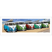 VW Californian Camper Campers Beach - Panoramic Print - 33 x 95cm