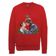Star Wars Christmas Mistletoe Kiss Sweatshirt - Red
