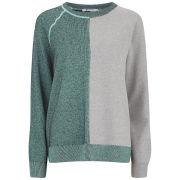T by Alexander Wang Women's Merino Blend Terry Stitch Sweatshirt - Seafoam
