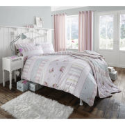 Catherine Lansfield Vintage Twin Pack Bedding Set - Pink