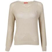 Influence Women's Honeycomb Knitted Jumper - Cream