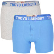 Tokyo Laundry Men's Walker 2-Pack Boxers - Regatta Blue/Light Grey Marl