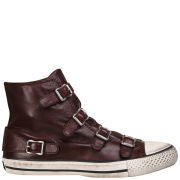 Ash Women's Virgin Leather Hi-Top Trainers - Prune