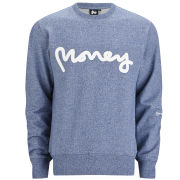 Money Men's Melange Crew Sweat - Blue