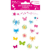 Butterflies And Fairies (Glitter) - Glitter Sticker Pack