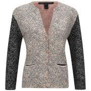 Marc by Marc Jacobs Women's Slash Tweed Printed Knit Cardigan - Multi Print