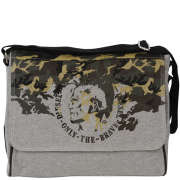 Diesel Happy Days Fleece Camo Ralph Camo Messenger Bag - Frost Grey