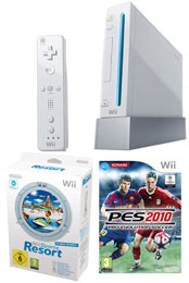Nintendo Wii Console: Bundle (Including Wii Sports Resort & Pro Evolution Soccer 2010)