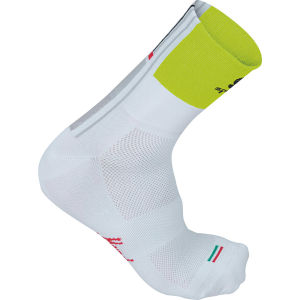 Sportful Gruppetto 12Cm Socks - White/Yellow