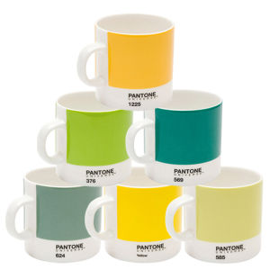 Pantone Universe Set of 6 Espresso Cups - Mixed Greens