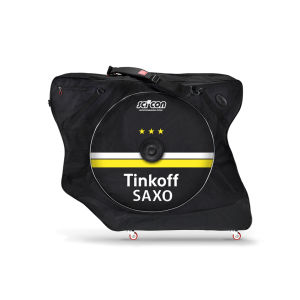 Scicon AeroComfort 2.0 TSA Bike Bag Padlock and External Lateral Shields - Black - Saxo Tinkoff Logo