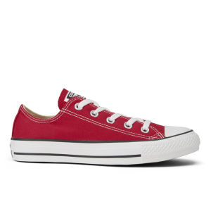Converse Unisex Chuck Taylor All Star OX Canvas Trainers - Red