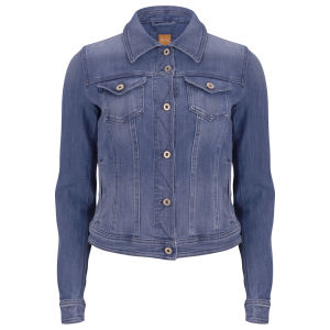 BOSS Orange Women's Lynna Denim Jacket - Medium Blue