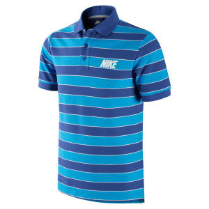 Nike Men's Match-Up Striped Polo Shirt - Blue