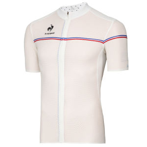 Le Coq Sportif Performance Ultra Light Short Sleeve Jersey - White