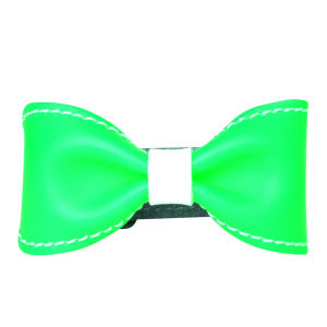 Anna Lou of London Limited Edition Leather Bow Bracelet - Neon Green