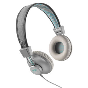 The House of Marley Positive Vibration Headphones, Inc 3 Button In-Line Remote and Mic - Mist
