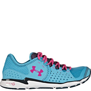 Under Armour Women's Micro G Mantis Running Shoes - Pirate Blue/Pink/Adelic/White