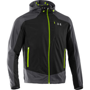 Under Armour Men's Imminent Run Jacket - Graphite/Black/Hyper Green/Reflective
