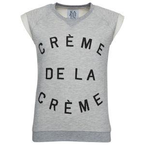 Zoe Karssen Women's Crème De La Crème Loose Fit Sweater with Rolled Sleeves - Grey Heather