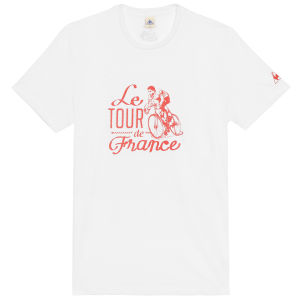 Le Coq Sportif Tour de France N10 Short Sleeved T-Shirt - White