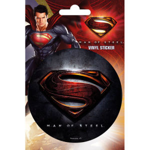 Superman Man of Steel Logo - Vinyl Sticker - 10 x 15cm