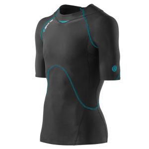 Skins Men's Coldblack Short Sleeve Top - Black/Process Blue