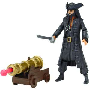 Pirates Of The Caribbean Deluxe Figure And Accessory Blackbeard & Cannon