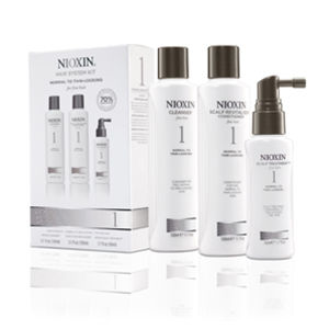 NIOXIN Hair System Kit 1 for Normal to Fine Natural Hair (3 produkter)