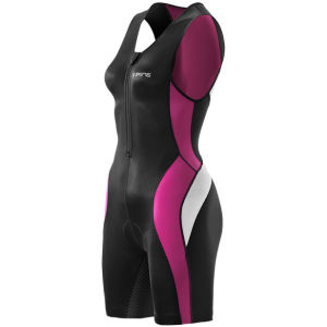 Skins Women's Tri400 Front Zip Sleeveless Suite - Black/Orchid