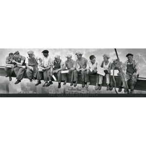 New York Men on Girder - Door Poster - 53 x 158cm