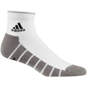 adidas Unisex Socks Cushioned Ankle 1Pp - White/Medium Grey Heather/Black