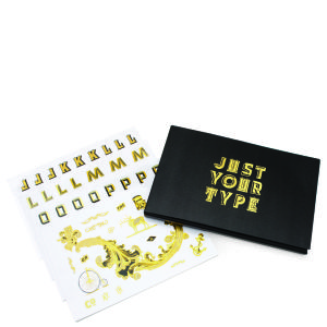 Just Your Type Gold Foil sticker Book