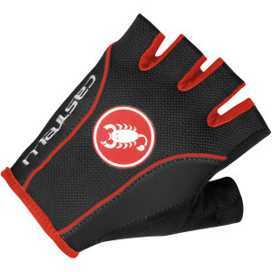 Castelli Free Gloves - Black/Red