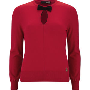 Love Moschino Women's Front Bow Knitted Jumper - Red