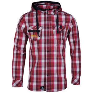 Benzini Men's Abbey Hooded Shirt Red