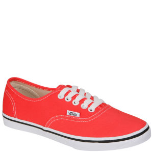 Vans Authentic Lo Pro Canvas Trainer -  Coral/ True White