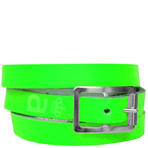 Anna Lou of London Limited Edition Leather Wrap Around Bracelet - Neon Green