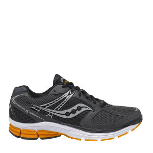 Saucony Men's Phoenix 6 Running Shoe - Grey/Orange/Silver