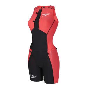 Speedo Women's LZR Racer Tri Comp Shorts - Black/Watermelon/White