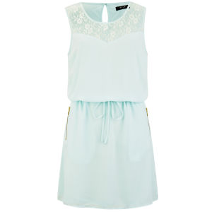 VILA Women's Titra Summer Dress - Aqua