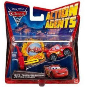 Cars 2: Action Agents Vehicle & Launcher Lightning McQueen