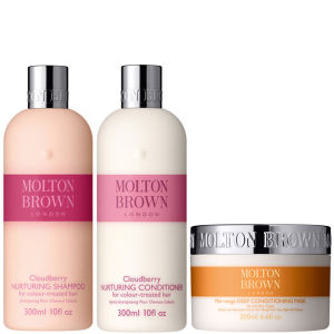 Molton Brown Cloudberry Nurturing Shampoo, Conditioner 300ml & Deep Conditioning Hair Mask 200ml (Bundle)