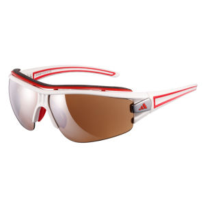 adidas Evil Eye Halfrim Pro Sunglasses - Shiny White/Red - XS