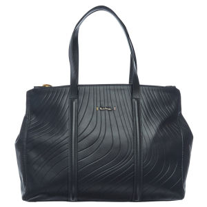Paul Smith Accessories Women's Double Zip Embossed Leather Tote - Navy