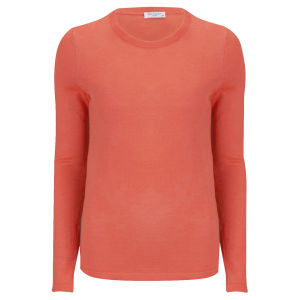 Equipment Women's Violet Crew Neck Jumper - Neon Orange