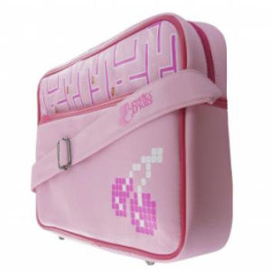 Joystick Junkies: Pink Pixel Cherry Flight Bag 13.4 Inch