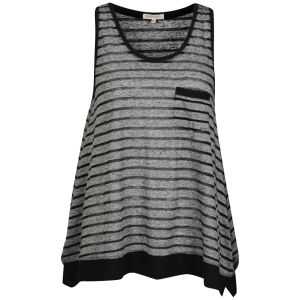 Brave Soul Women's Melrose Striped Vest - Black