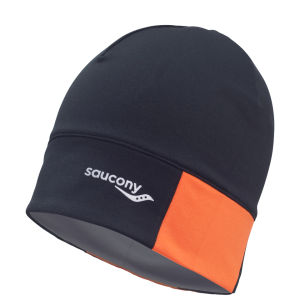 Saucony Men's Drylete Loose Fit Beanie - Black/Vizipro